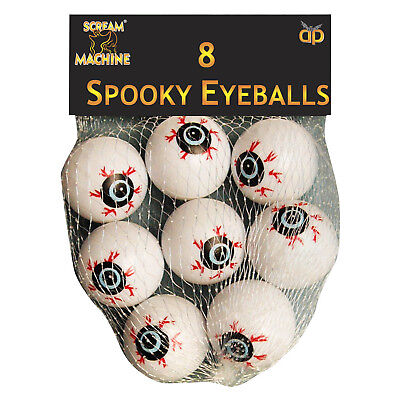 8 Halloween Horror Gruesome Eye Eyeball Ball Party Gifts Favours - Gruesome Halloween Decorations