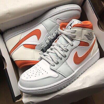 Nike Jordan 1 Mid Starfish Pure Platinum Orange UK9.5 Brand New
