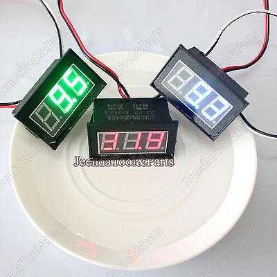 4-wires Waterproof Monitor Battery Meter Dc 0-100v Auto Gauge Digital Voltmeter