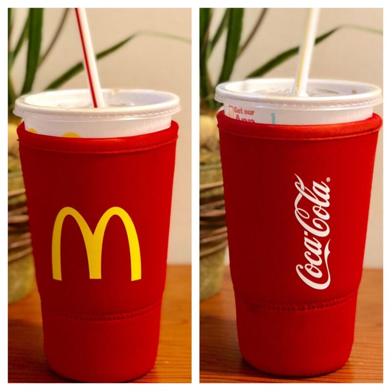 McDonald's Koozie Coca Cola - Neoprene Sleeve for 32 oz (large size) Plastic Cup