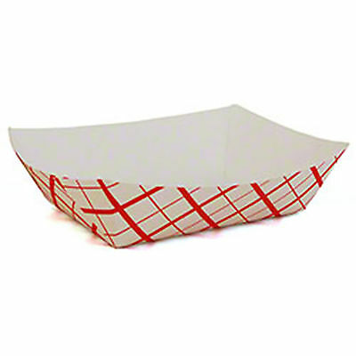 Paper Food Tray Fries Nacho Concession #100 1lb 250 - Nacho Boats
