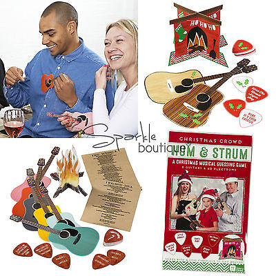 'HUM & STRUM' PARTY GAME - Christmas Musical Guessing Game - Name that Tune ()
