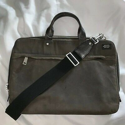 Zip-around Laptop-tasche (pre-loved authentic JACK SPADE treated canvas zip around LAP TOP business bag)