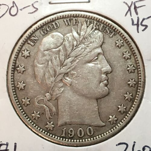 1900-S  XF-AU   Barber Half Dollar   Full Liberty and Band  #1