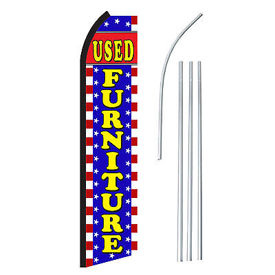 Used Furniture - Advertising Sign Swooper Feather Banner Flag Pole Only