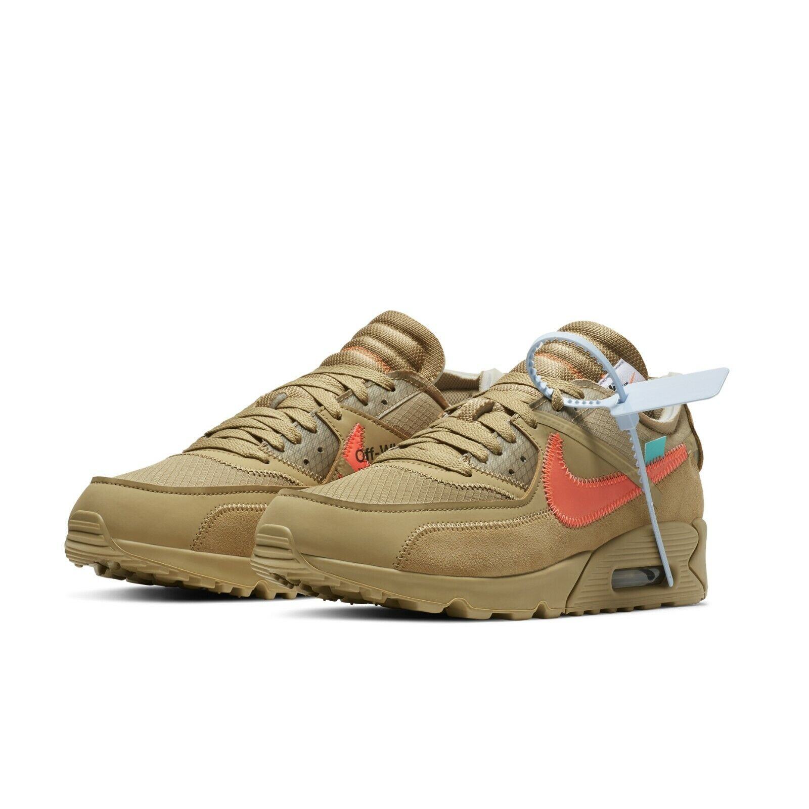 13b9f52511a1 OFF-WHITE x Nike Air Max 90 Desert Ore Beige THE TEN 10 Virgil Abloh  AA7293-200