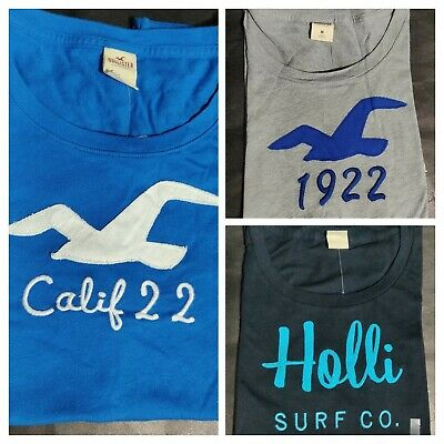 Hollister Women's T Shirt Embroidered Crew Neck Tee By Abercrombie