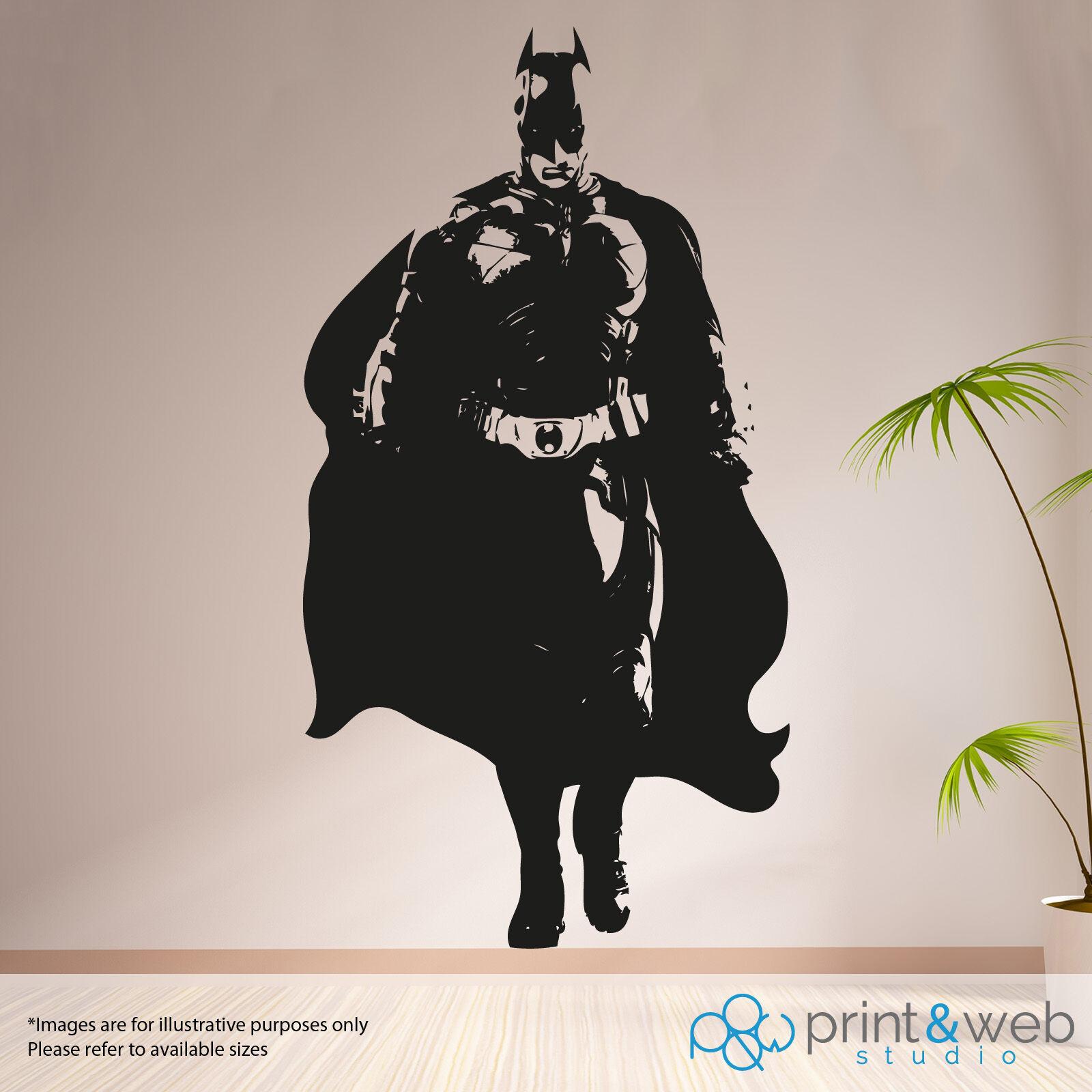 batman life size wall sticker decal art mural bedroom ebay