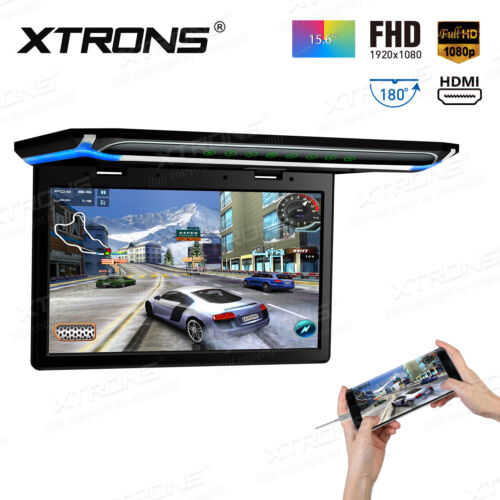 """15.6"""" HD 1080P Car Roof Ceiling Mounted Overhead Flip Down Monitor Game HDMI"""