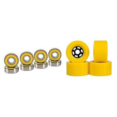 Cal 7 97mm 78A Longboard Flywheel Skateboard Yellow Wheels + Abec7  Bearings