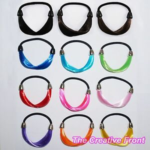 SYNTHETIC-ELASTIC-HAIR-BAND-TIE-Immitation-Fake-Hair-Accessories-FREE-P-P