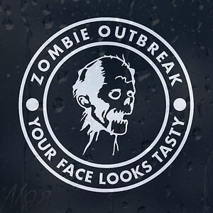 Zombie-Response-Outbreak-Tasty-Face-Funny-Car-Window-Laptop-Decal-Vinyl-Sticker