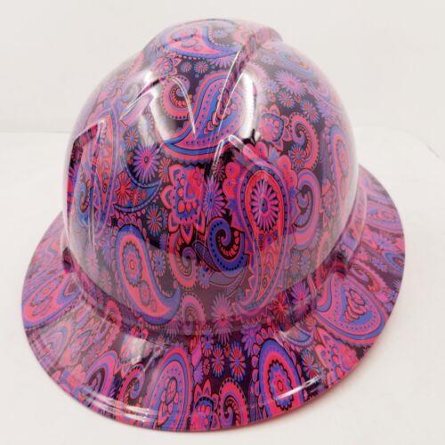 New Full Brim Hard Hat Custom Hydro Dipped HOT PINK Brad Paisleys .Free Shipping 3