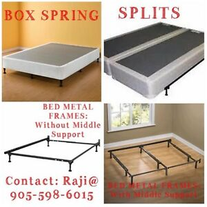 METAL FRAMES AND BOX SPRING ON CLEARANCE SALE
