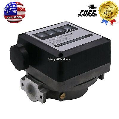 4 Digital Gasoline Petrol Meter 20-120lmin For Diesel Oil Flow Meter Counter Us