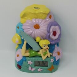 Disney Tinker Bell Ceiling Projected Night Table Dresser Top Alarm Clock