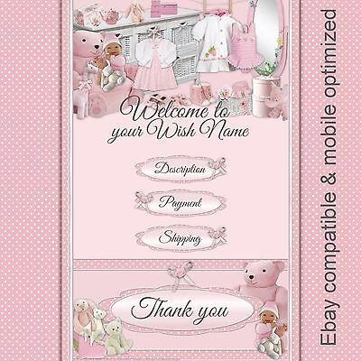 Baby Boutique & Baby Reborn ~ Auction Listing Template Mobile Responsive  |541 E
