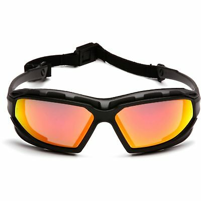 Pyramex Safety Goggle Glasses With Red Mirror Anti-fog Lens Black Frame