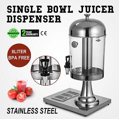 8l Juice Dispenser Beverage Buffet Machine Fruit Juicer Cold Drink 2 Gallon
