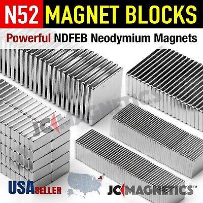 N52 N35 Super Strong Rare Earth Neodymium Magnet Block Thin Square Crafts Fridge
