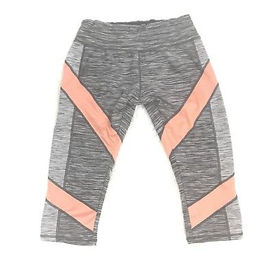 SOYBU BLACK AND WHITE SPACE DYE ORANGE STRIPE CROPPED LEGGINGS SIZE SMALL](Orange And Black Striped Leggings)