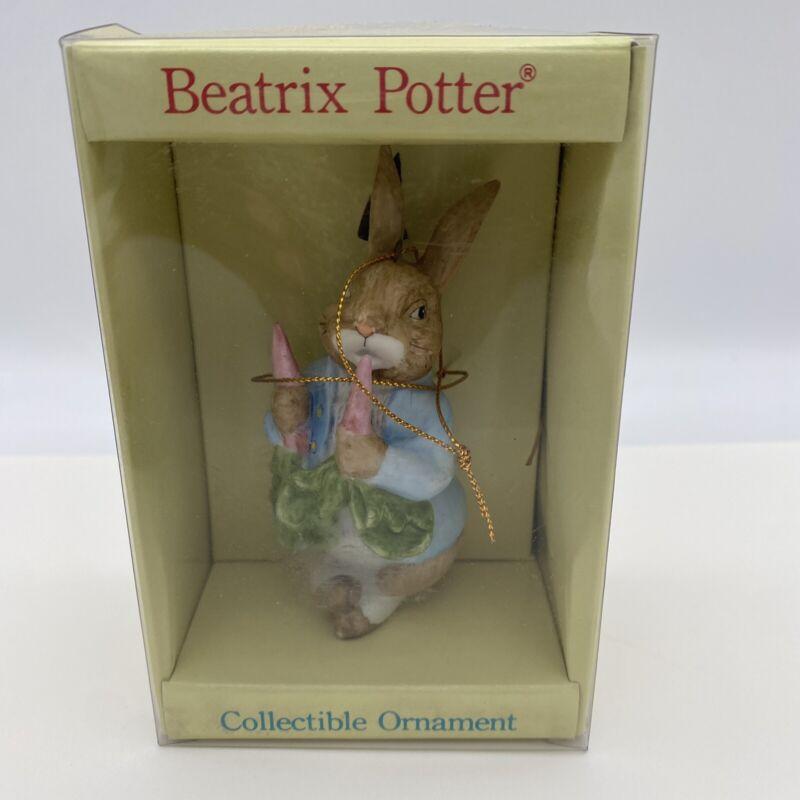 FW Schmid Beatrix Potter Peter Rabbit Ornament 1985 In Original Box
