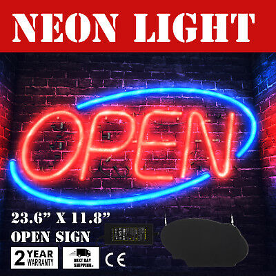 Horizontal 23.6x11.8 Neon Open Sign 60w Led Light Window Bright 60x30cm Good