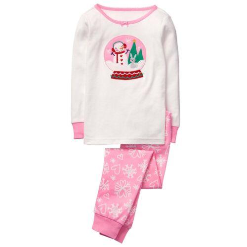 NWT GYMBOREE 4 5 6 12  Snow Globe Pajamas Girls Gymmies NEW Holiday Christmas