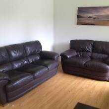 Dark brown leather lounge suite Springbrook Gold Coast South Preview