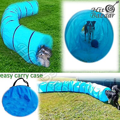 Dog Agility Tunnel Training Equipment 18 Ft Pet Obedience Exercise Outdoor Kit