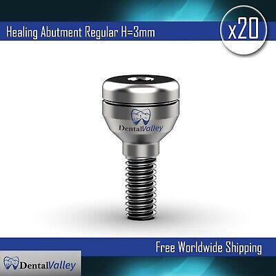 20x Dental Implant Abutment Standard Healing Cap Implants Abutments H3mm