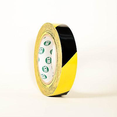 Markierungsband Signalband Warnband Klebeband Gelb/Schwarz 19mm x 33m