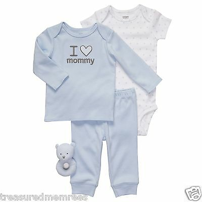 Carter's 4 Piece Outfit With Matching Cloth Baby Rattle  ~ Size 9 Months ~ NWT