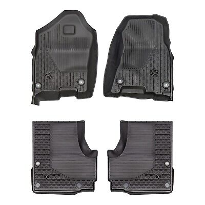 NEW OEM MOPAR 2019 DODGE RAM 1500 DT STYLE FRONT AND REAR ALL SEASON SLUSH MATS