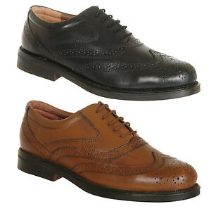 Mens-Shoes-Leather-Brogues-Size-6-7-8-9-10-11-12-13-14