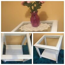 White solid wood glass coffee table. Mount Riverview Blue Mountains Preview