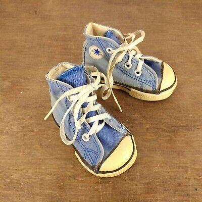 Vtg USA 1980s Blue Converse Chuck Taylor All Star Basketball Infant Shoes Sz 2