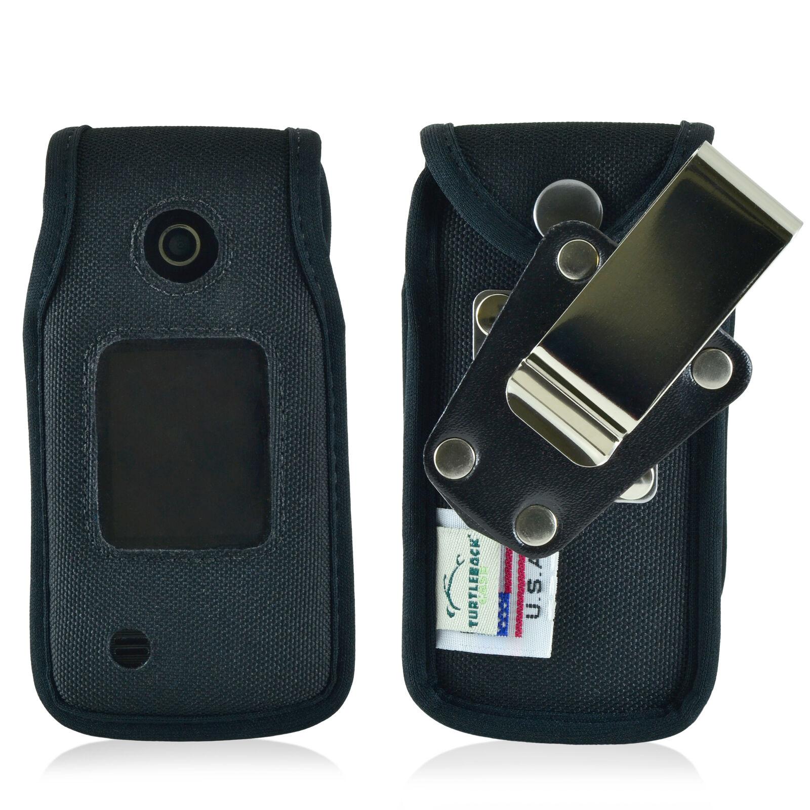 lg-terra-vn210-flip-phone-case-turtleback-black-nylon-removable-metal-clip