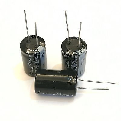 Us Stock 10pcs Electrolytic Capacitors 2200uf 50v 105 Radial 16 X 25mm