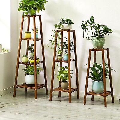 Garden Pot Plant Stand Rack 2 3 4 Tiers Display Indoor Outdoor Standing Pastoral