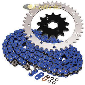 Blue O-Ring Drive Chain & Sprockets Kit Fits YAMAHA WARRIOR 350 YFM350X 1989-04