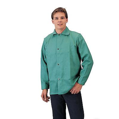 Tillman 6230 9oz Green FR Cotton Welding Jacket - XL