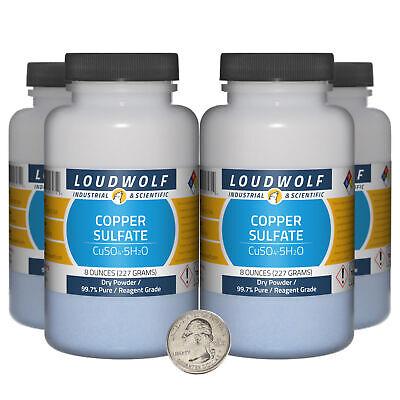 Copper Sulfate 2 Pounds 4 Bottles 99.7 Pure Reagent Grade Dry Powder