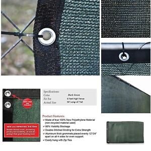ALEKO® 6' x 50' Dark Green Fence Privacy Screen