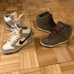 ★★ LOT 2 SNEAKERS FEMME NIKE DUNK HIGH (SIZE 6 US) ★★