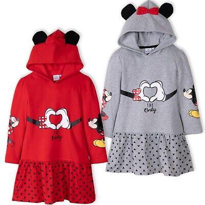 Disney Minnie Mickey Maus Mädchen Warm Kapuze Kleid - 2 Jahren Minnie Maus Kostüm