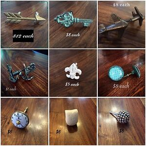 Large selection of knobs and drawer pulls