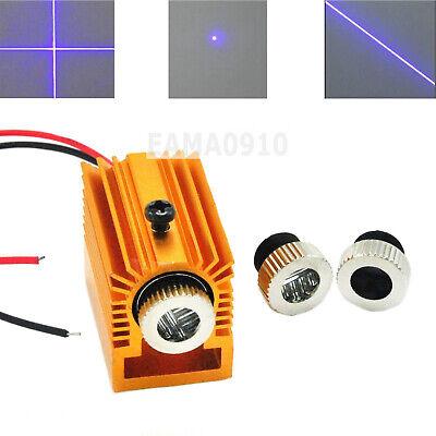 Focusable 10mw 405nm Dotlinecross Violetblue Laser Diode Module W Heatsink