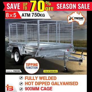 8x5 Full Welded Galvanised Box Trailer - 900mm Cage Fairfield Fairfield Area Preview