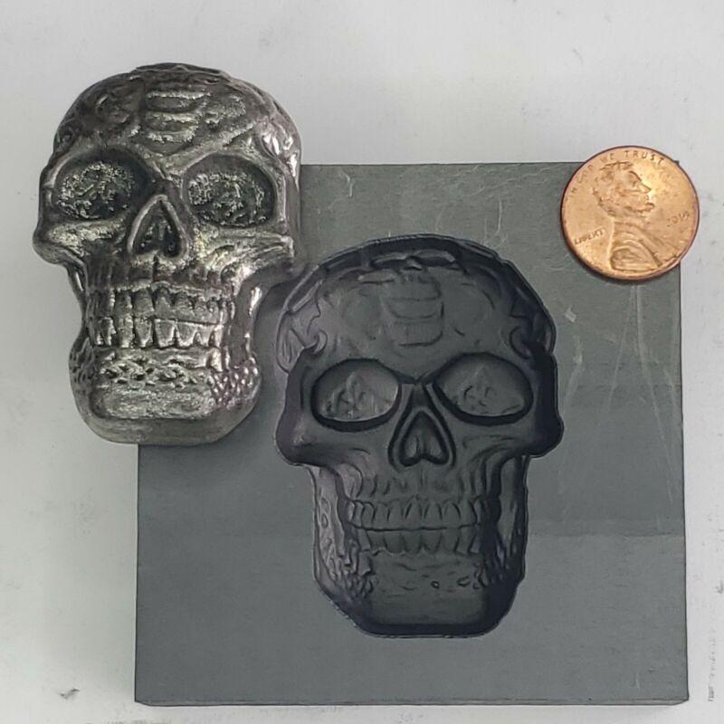 Skull 3D Graphite Ingot Mold for Gold Silver Copper Tin Melting Casting Refining
